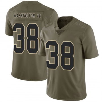 Youth Nike New Orleans Saints Keith Washington Jr. Green 2017 Salute to Service Jersey - Limited