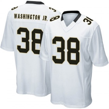 Youth Nike New Orleans Saints Keith Washington Jr. White Jersey - Game