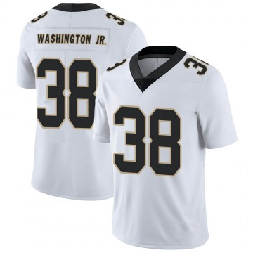 Youth Nike New Orleans Saints Keith Washington Jr. White Vapor Untouchable Jersey - Limited