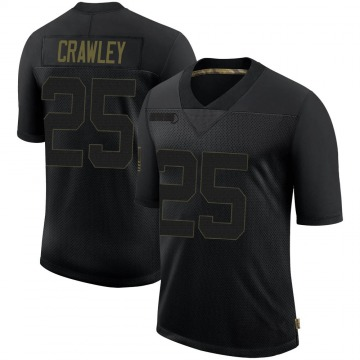 Youth Nike New Orleans Saints Ken Crawley Black 2020 Salute To Service Jersey - Limited
