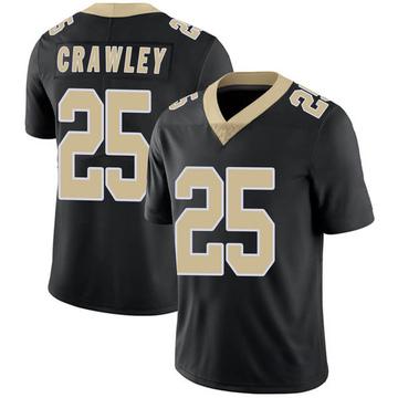 Youth Nike New Orleans Saints Ken Crawley Black Team Color Vapor Untouchable Jersey - Limited