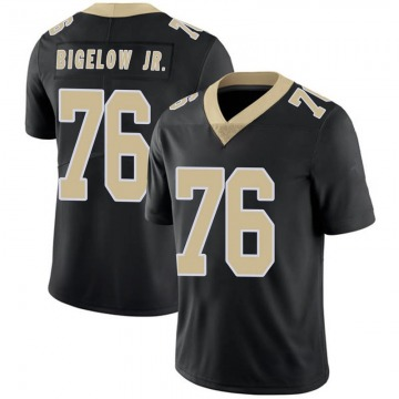 Youth Nike New Orleans Saints Kenny Bigelow Jr. Black Team Color 100th Vapor Untouchable Jersey - Limited
