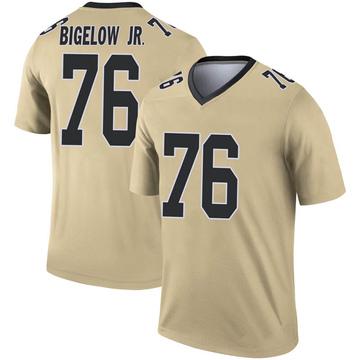 Youth Nike New Orleans Saints Kenny Bigelow Jr. Gold Inverted Jersey - Legend