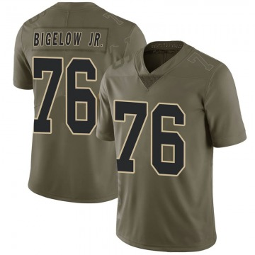 Youth Nike New Orleans Saints Kenny Bigelow Jr. Green 2017 Salute to Service Jersey - Limited