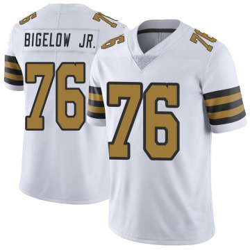 Youth Nike New Orleans Saints Kenny Bigelow Jr. White Color Rush Jersey - Limited