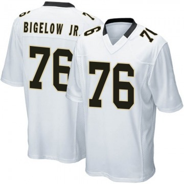Youth Nike New Orleans Saints Kenny Bigelow Jr. White Jersey - Game