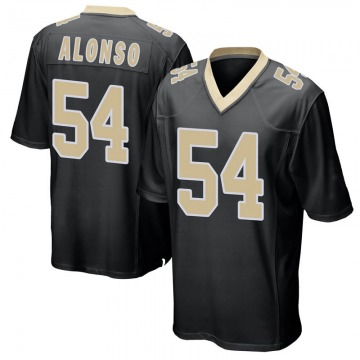Youth Nike New Orleans Saints Kiko Alonso Black Team Color Jersey - Game