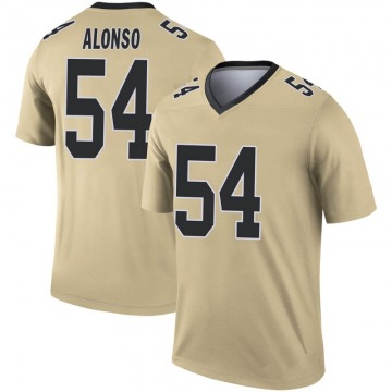 Youth Nike New Orleans Saints Kiko Alonso Gold Inverted Jersey - Legend