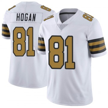 Youth Nike New Orleans Saints Krishawn Hogan White Color Rush Jersey - Limited