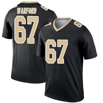 Youth Nike New Orleans Saints Larry Warford Black Jersey - Legend