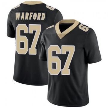 Youth Nike New Orleans Saints Larry Warford Black Team Color 100th Vapor Untouchable Jersey - Limited