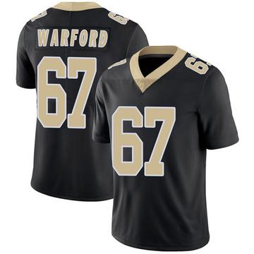 Youth Nike New Orleans Saints Larry Warford Black Team Color Vapor Untouchable Jersey - Limited