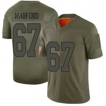 Youth Nike New Orleans Saints Larry Warford Camo 2019 Salute to Service Jersey - Limited