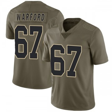 Youth Nike New Orleans Saints Larry Warford Green 2017 Salute to Service Jersey - Limited