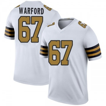 Youth Nike New Orleans Saints Larry Warford White Color Rush Jersey - Legend