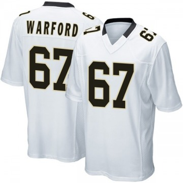 Youth Nike New Orleans Saints Larry Warford White Jersey - Game