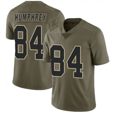Youth Nike New Orleans Saints Lil'Jordan Humphrey Green 2017 Salute to Service Jersey - Limited