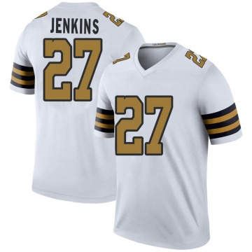 Youth Nike New Orleans Saints Malcolm Jenkins White Color Rush Jersey - Legend