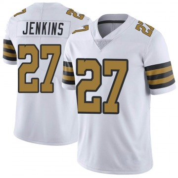 Youth Nike New Orleans Saints Malcolm Jenkins White Color Rush Jersey - Limited