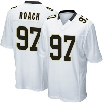 Youth Nike New Orleans Saints Malcolm Roach White Jersey - Game