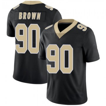 Youth Nike New Orleans Saints Malcom Brown Black Team Color 100th Vapor Untouchable Jersey - Limited