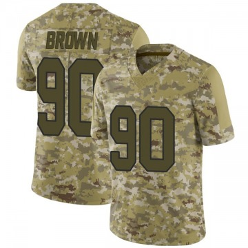 Youth Nike New Orleans Saints Malcom Brown Brown Camo 2018 Salute to Service Jersey - Limited