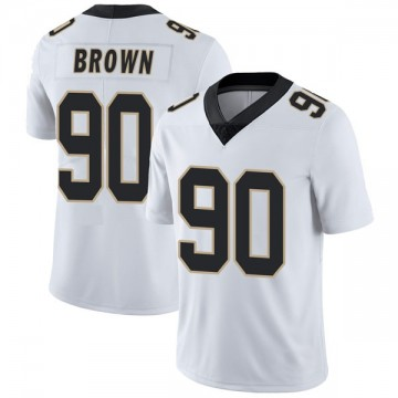 Youth Nike New Orleans Saints Malcom Brown White Vapor Untouchable Jersey - Limited