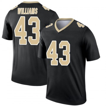Youth Nike New Orleans Saints Marcus Williams Black Jersey - Legend