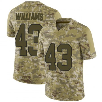 Youth Nike New Orleans Saints Marcus Williams Camo 2018 Salute to Service Jersey - Limited