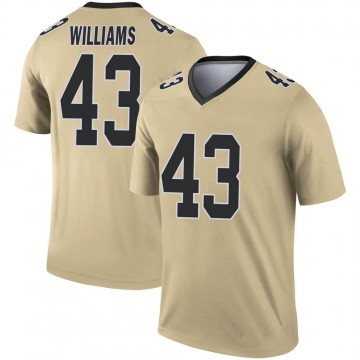 Youth Nike New Orleans Saints Marcus Williams Gold Inverted Jersey - Legend