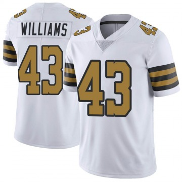 Youth Nike New Orleans Saints Marcus Williams White Color Rush Jersey - Limited