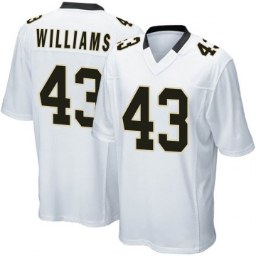 Youth Nike New Orleans Saints Marcus Williams White Jersey - Game