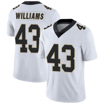 Youth Nike New Orleans Saints Marcus Williams White Vapor Untouchable Jersey - Limited