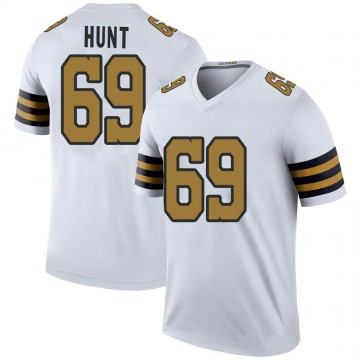 Youth Nike New Orleans Saints Margus Hunt White Color Rush Jersey - Legend