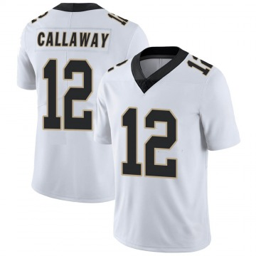 Youth Nike New Orleans Saints Marquez Callaway White Vapor Untouchable Jersey - Limited