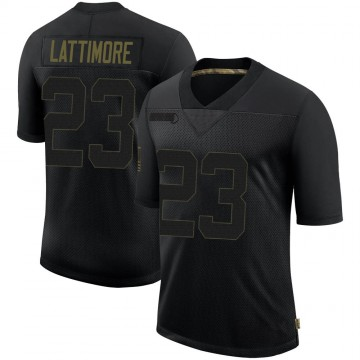 Youth Nike New Orleans Saints Marshon Lattimore Black 2020 Salute To Service Jersey - Limited