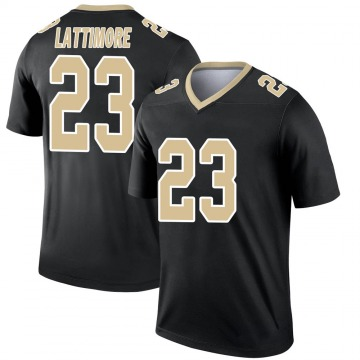 Youth Nike New Orleans Saints Marshon Lattimore Black Jersey - Legend