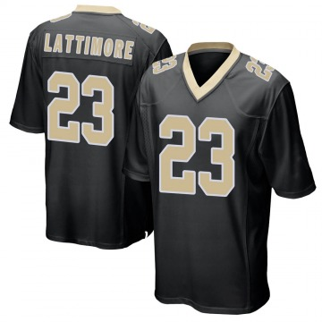 Youth Nike New Orleans Saints Marshon Lattimore Black Team Color Jersey - Game