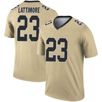 Youth Nike New Orleans Saints Marshon Lattimore Gold Inverted Jersey - Legend