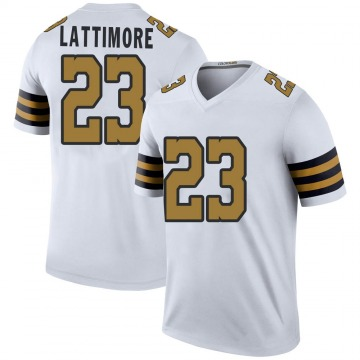 Youth Nike New Orleans Saints Marshon Lattimore White Color Rush Jersey - Legend