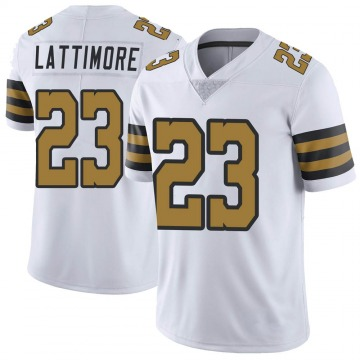 Youth Nike New Orleans Saints Marshon Lattimore White Color Rush Jersey - Limited