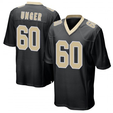 Youth Nike New Orleans Saints Max Unger Black Team Color Jersey - Game