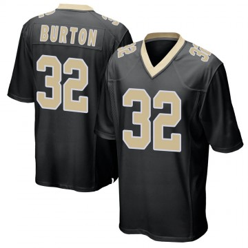 Youth Nike New Orleans Saints Michael Burton Black Team Color Jersey - Game