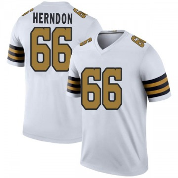 Youth Nike New Orleans Saints Mike Herndon White Color Rush Jersey - Legend