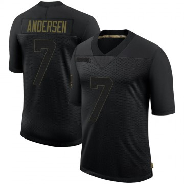 Youth Nike New Orleans Saints Morten Andersen Black 2020 Salute To Service Jersey - Limited