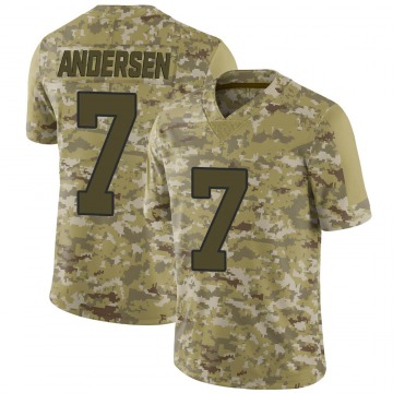 Youth Nike New Orleans Saints Morten Andersen Camo 2018 Salute to Service Jersey - Limited