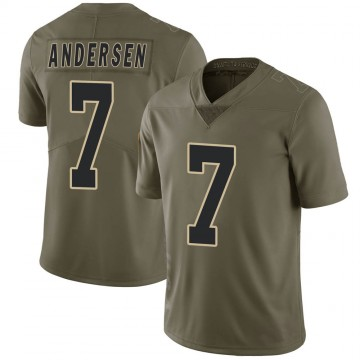 Youth Nike New Orleans Saints Morten Andersen Green 2017 Salute to Service Jersey - Limited