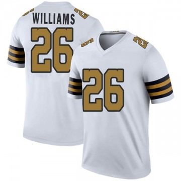 Youth Nike New Orleans Saints P.J. Williams White Color Rush Jersey - Legend