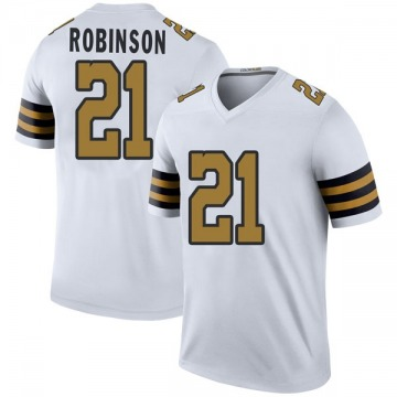 Youth Nike New Orleans Saints Patrick Robinson White Color Rush Jersey - Legend