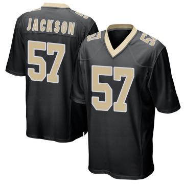 Youth Nike New Orleans Saints Rickey Jackson Black Team Color Jersey - Game